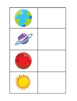 Solar System File Folder Games- Set of 3
