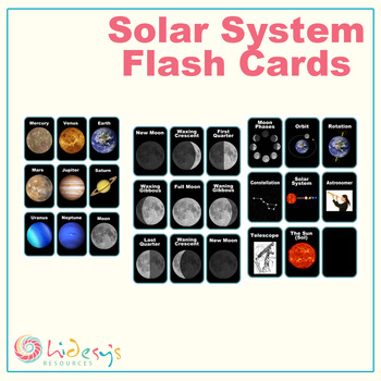 Moon Phase Flash Cards Teaching Resources | Teachers Pay Teachers