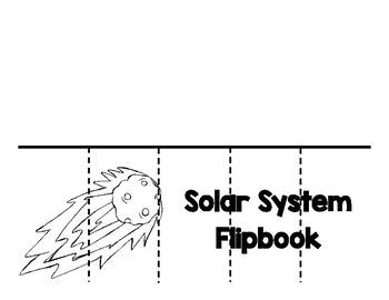 Solar System Flip-book Printable