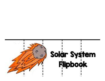Solar System Flip-book Printable by Pepper's Picks | TpT