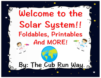 Solar System Foldable and Printable!