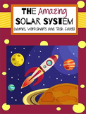 Solar System Game, Reading Passage, and Task Cards
