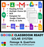 Solar System Google Doc Article & Questions - Distance Learning Friendly