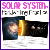 Solar System Handwriting Cards