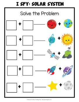 Solar System I Spy Math