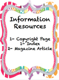 Solar System Information Resources-Copyright Page, Index, Magazine Articles