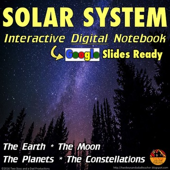 Solar System Interactive Digital Notebook for Google Drive