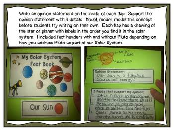 Solar System Interactive Flap Book for Intermediate Grades