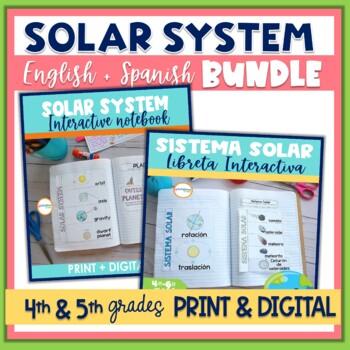 Solar System Interactive Notebook English & Spanish Versions Bundle