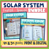 Solar System Interactive Notebook English & Spanish Versions Bundle