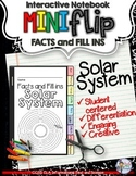 SOLAR SYSTEM: INTERACTIVE NOTEBOOK FACTS AND FILL INS MINI FLIP