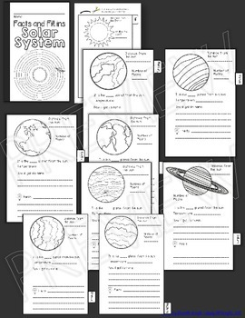 Solar system interactive notebook facts and fill ins mini flip tpt solar system interactive notebook facts and fill ins mini flip ccuart Images