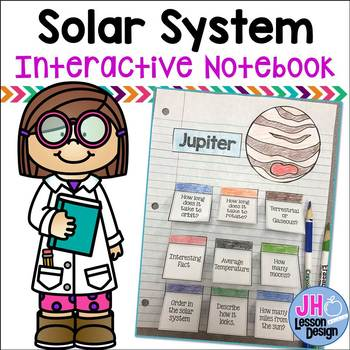 Solar System Interactive Notebook Pages: Planets