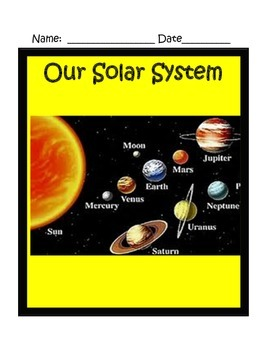 Solar System Interactive Notes 4th Grade Science