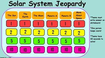 Solar System Jeopardy!