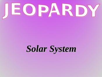 Solar System Jeopardy Vocabulary Game