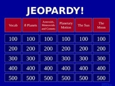Solar System - Jeopardy Review Game