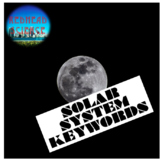 Solar System Keywords with Word Wall Cutouts (with & witho