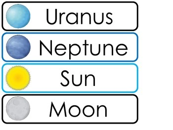 Solar System  Word Wall Weekly Theme Posters.