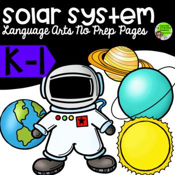 Solar System Language Arts No Prep Packet