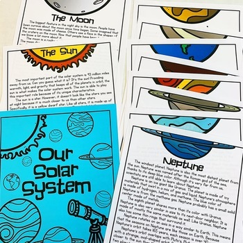 Solar System Lapbook & Passages | Planets | Outer Space Activity