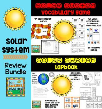 Solar System Lapbook and Vocabulary Games Bundle