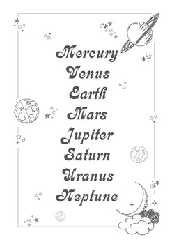 Solar System Magic Poster ( A4 )