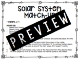 Solar System Match-Up Game