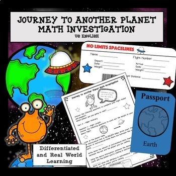 Solar System Space Math and Science Project No Prep US