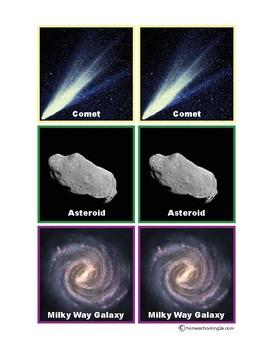 Solar System Memory Game