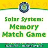 Solar System: Memory Match Game - MAC Gr. 5-8