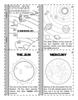 Solar System Mini Book
