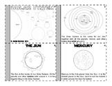 Solar System Mini Book - Landscape