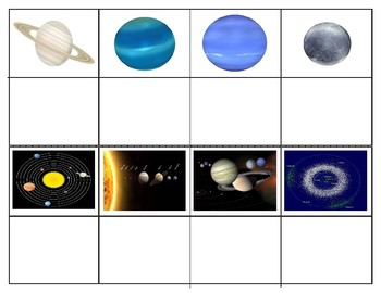 Solar System : Mini Matching Cards