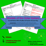 Solar System Models Cornell Notes #20