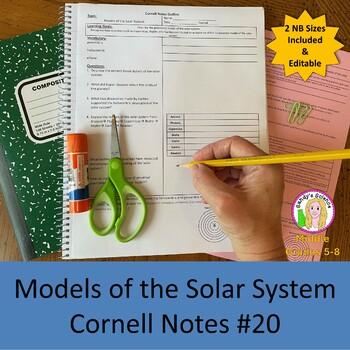 Solar System Models Cornell Notes #20