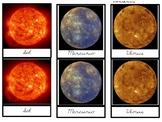 Solar System: Printable Montessori Three Part Cards IN SPANISH
