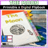 Moon and Lunar Phases Printable and Digital Flipbook Activ
