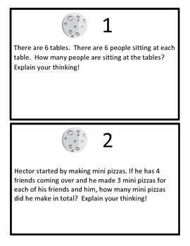 Solar System Multiplication Problem Solving Game Board (Question Set C)