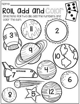 Solar System No Prep Math Packet