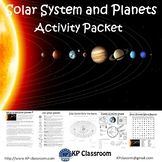 Solar System and Planets No Prep Activity Packet and Worksheets