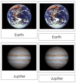 Solar System Nomenclature Cards