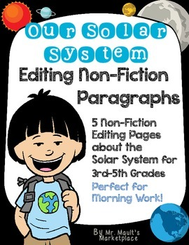 Solar System Non-Fiction Editing/Proofreading Practice Pag