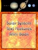 Solar System Non-Fiction Text Features Mini Book