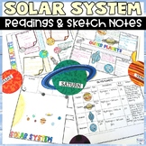 Solar System Nonfiction Worksheets and Sketch Note Graphic