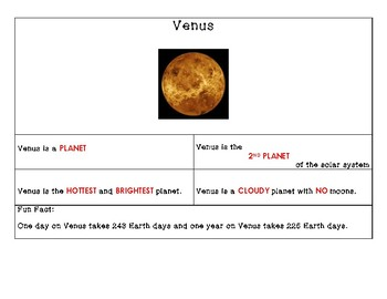 Solar System Note Packet
