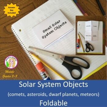 Solar System Objects (comets, asteroids, dwarf planets, meteors) Foldable