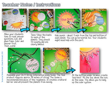 SOLAR SYSTEM CREATE, FACTS, AND FILL INS ON A STRING INTERACTIVE SCIENCE FUN!