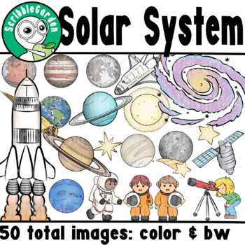 Solar System, Outer Space, Science ClipArt