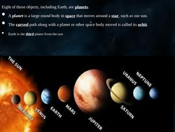 Solar System -POWERPOINT WITH NOTES 4th Grade Science